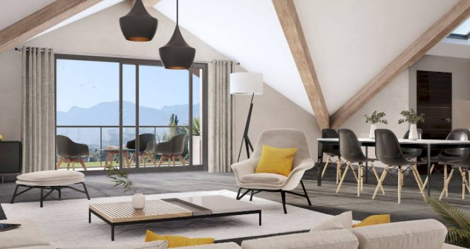 Achat / Vente immobilier neuf Amancy en pleine nature-vue montagne (74800) - Réf. 4493