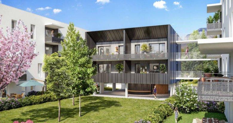Achat / Vente immobilier neuf Challes-les-Eaux à 10 min du centre écrin de verdure (73190) - Réf. 5142