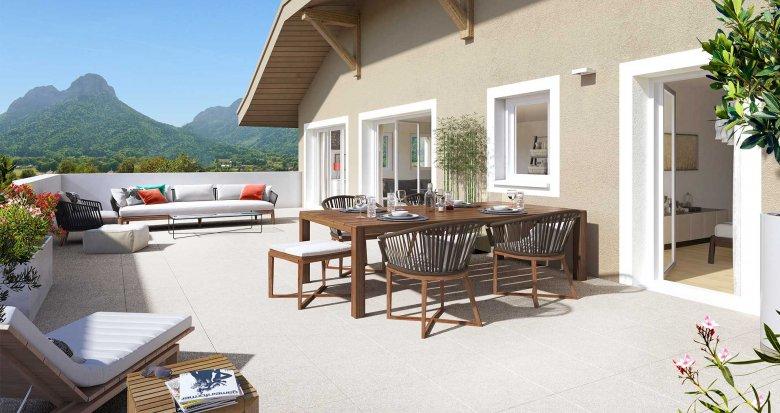 achat immobilier neuf doussard au centre ville 74210. Black Bedroom Furniture Sets. Home Design Ideas